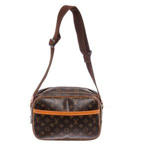Louis Vuitton Monogram Canvas Leather Reporter Bag